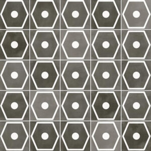 Portugese Tegels 29,3x29,3 - Pop Tile Janis Marengo Zwart Wit Patroon