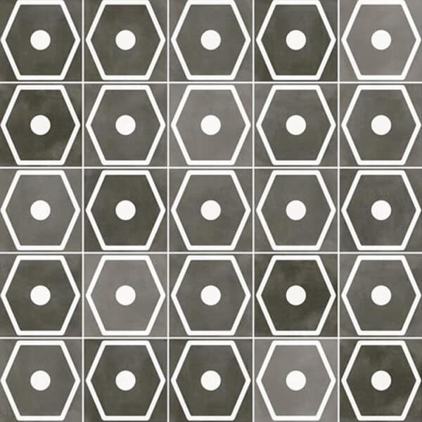 Portugese Tegels 29,3x29,3 - Pop Tile Janis Marengo Zwart Wit Patroon