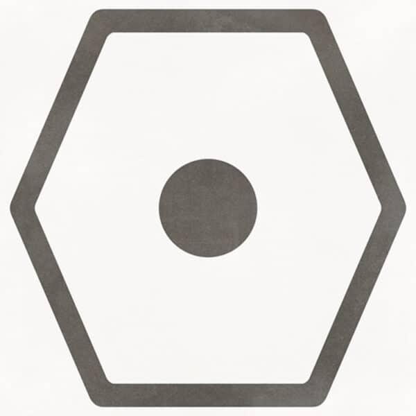 Portugese Tegels 29,3x29,3 - Pop Tile Janis Nacar Wit Zwart