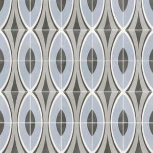 Portugese Tegels 29,3x29,3 - Pop Tile Nimbin Grijs Blauw Patroon