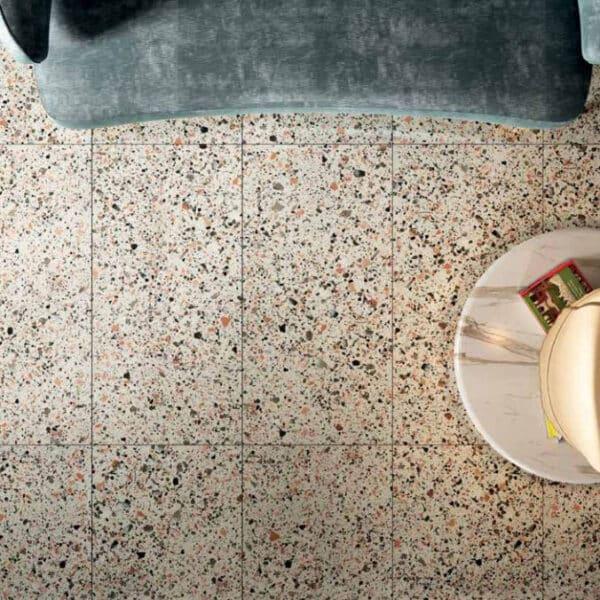 Terrazzo Look Tegel Wit Roze 120x60 Ven Pink SF1