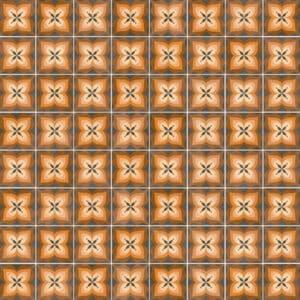 Portugese Tegels 15×15 – Pop Tile Bethel Bruin Patroon