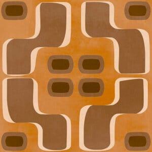 Portugese Tegels 15×15 – Pop Tile Fluxus Bruin