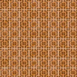 Portugese Tegels 15×15 – Pop Tile Fluxus Bruin Patroon