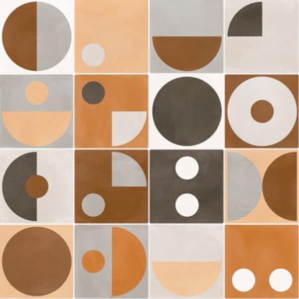 Portugese Tegels 15×15 – Pop Tile Popart Mix Patroon
