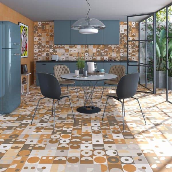 Portugese Tegels 15×15 – Pop Tile Popart Mix Sfeer
