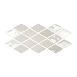 Ruit Tegels 9,8x16,7 - Memories Looks Handvorm Mist Lichtgrijs Patroon
