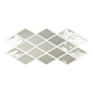 Ruit Tegels 9,8x16,7 - Memories Looks Handvorm Smoke Grijs Patroon