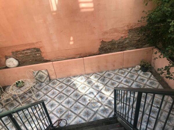 Vintage Portugese Tegels Marrakech in de Tuin
