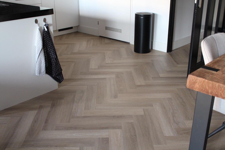 Visgraat PVC Vloer keuken