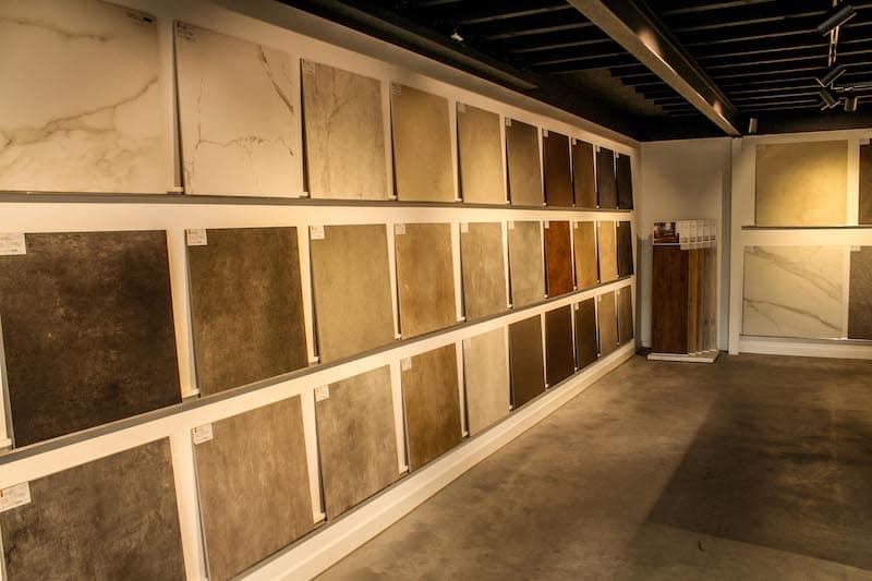 Wandtegels showroom