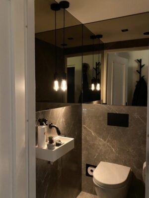 Bruine Marmerlook Tegels wc