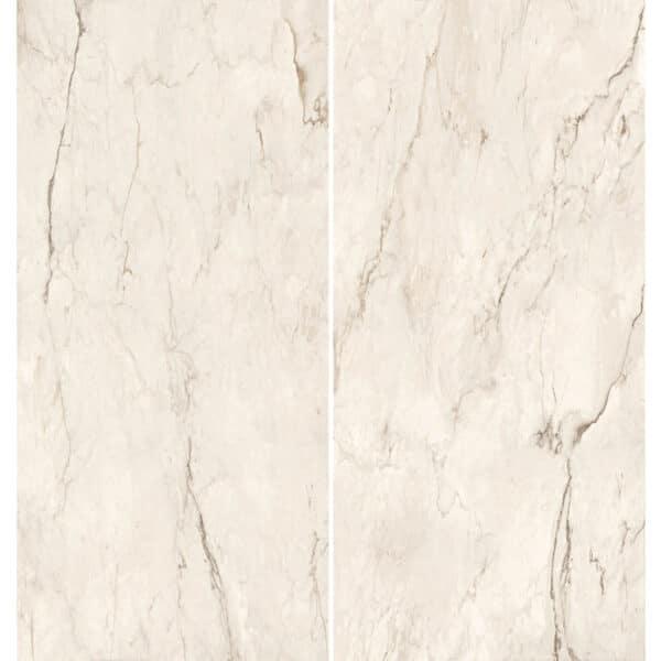 Marmerlook Tegel Slabs 260x120 - TR-CRE Marble Gebroken Wit Creme Hoogglans Variatie