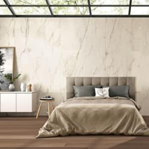 Marmerlook Tegel Slabs 260x120 - TR-CRE Marble Wit Sfeer