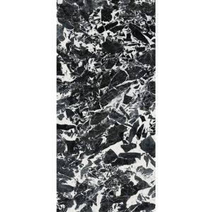 Marmerlook Tegel Slabs 260x120 - TR-GRA Marble Zwart Wit Hoogglans