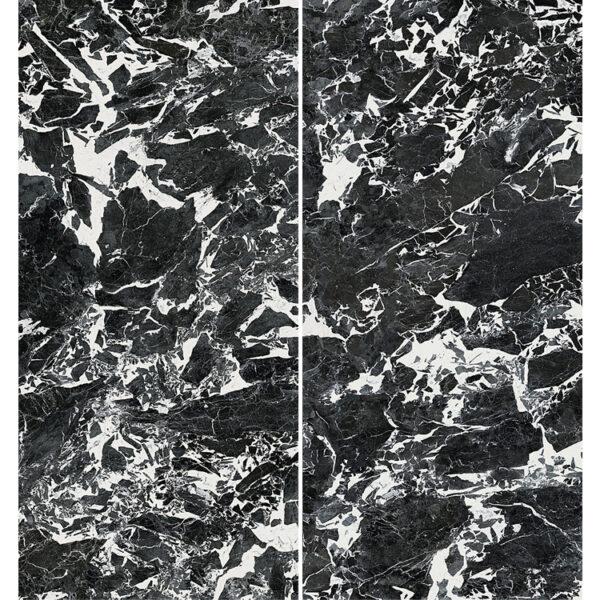Marmerlook Tegel Slabs 260x120 - TR-GRA Marble Zwart Wit Hoogglans Variatie