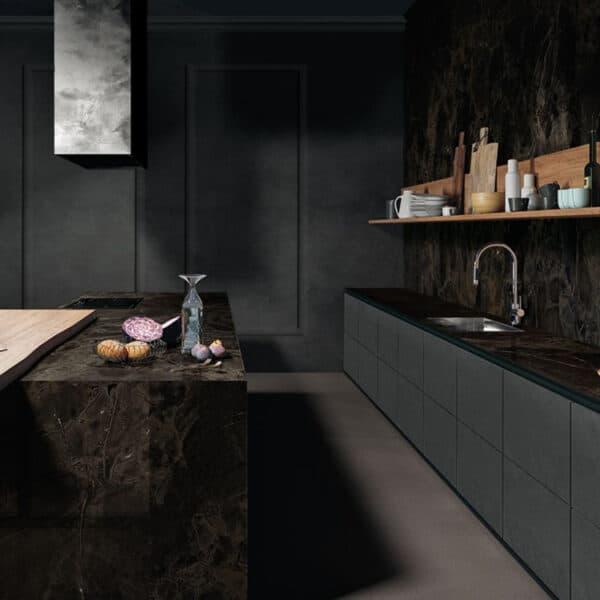 Marmerlook Tegel Slabs 260x120 - TR-INF Marble Donkerbruin Mat Sfeer