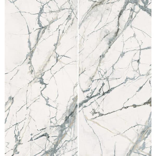 Marmerlook Tegel Slabs 260x120 - TR-INV Marble Wit Hoogglans Variatie