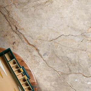 Marmerlook Tegel Slabs 260x120 - TR-SAN Marble Beige Bruin Mat Sfeer