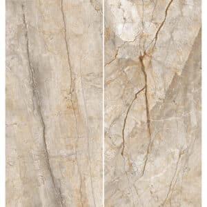 Marmerlook Tegel Slabs 260x120 - TR-SAN Marble Beige Bruin Mat Variatie