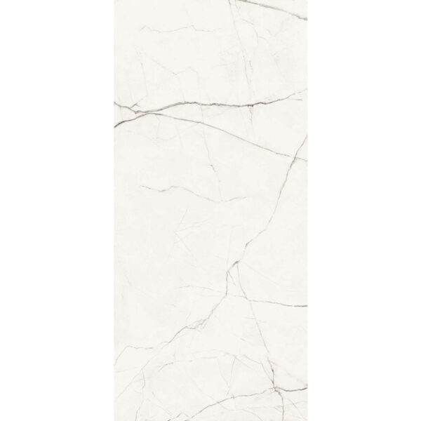 Marmerlook Tegel Slabs 260x120 - TR-STA Marble Wit Hoogglans