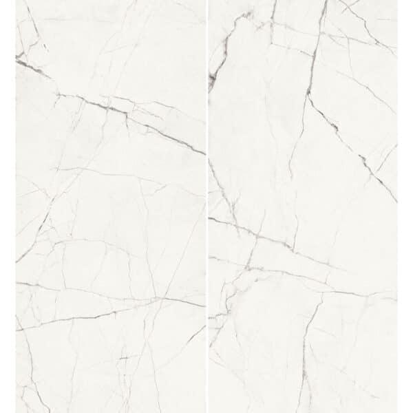 Marmerlook Tegel Slabs 260x120 - TR-STA Marble Wit Mat Variatie