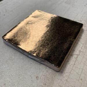 Handvorm Tegel 10x10 Goud Metallic Glans op Voorraad CU