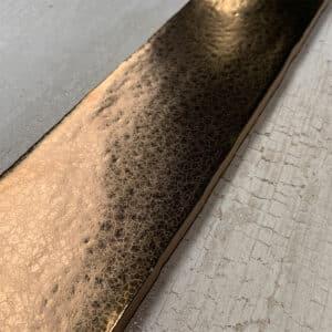 Handvorm Tegel 7,5x30 Goud Metallic Glans op Voorraad CU