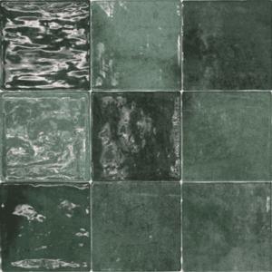 Handvorm Tegels 10x10 - Class Zellige Verde Oscuro
