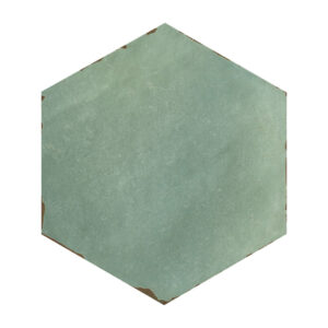 Hexagon Handvorm Tegels 14x16 - Capri Bettina Blue Groenblauw