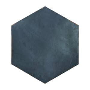 Hexagon Handvorm Tegels 14x16 - Capri Chiazza Marino Donkerblauw