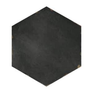 Hexagon Handvorm Tegels 14x16 - Capri Chiazza Sorrentine Nero Antraciet