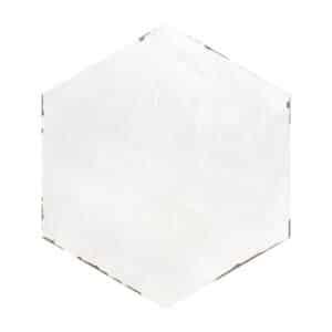 Hexagon Handvorm Tegels 14x16 - Capri Solaro White Wit