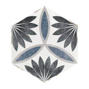 Hexagon Portugese Tegels 14x16 - Capri Handvorm Nora