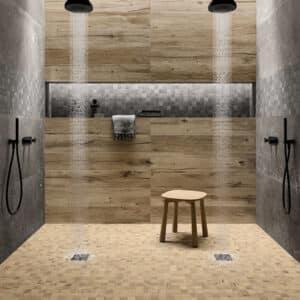 Houtlook Tegels | Keramisch Parket 120x20 - Nordik Wood Gold Bruin Sfeer