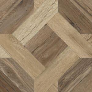 Houtlook Tegels | Keramisch Parket 60x60 - Nordik Wood Mansion Bruin