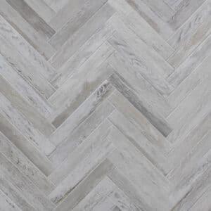 Keramisch Parket - Visgraat Houtlook Tegels 40x6,5 Alaska White