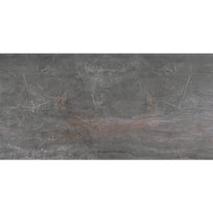 Marmerlook Tegels 120x60 - Fossil Piombo Hoogglans Donkergrijs