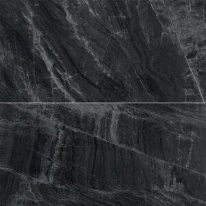 Marmerlook Tegels 120x60 - Gemme Black Mirror Mat Antraciet