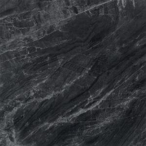 Marmerlook Tegels 60x60 - Gemme Black Mirror Hoogglans Antraciet