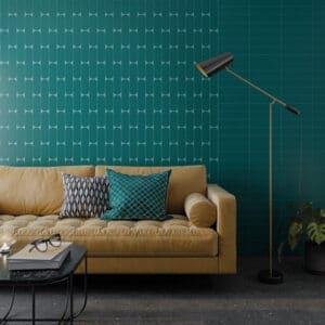 Handvorm Tegels 7,5x30 - Grace Teal Groenblauw Mat Sfeer