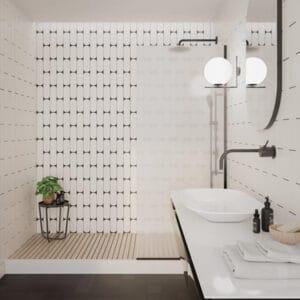 Handvorm Tegels 7,5x30 - Ovaal Grace White Gebroken Wit Mat Sfeer