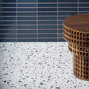 Terrazzo Tegels 18,6x18,6 - Confetti Wit Grijs Sfeer