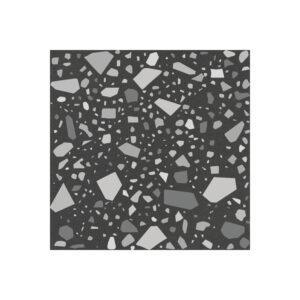 Terrazzo Tegels 18,6x18,6 - Confetti Zwart Grijs