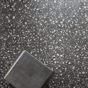 Terrazzo Tegels 18,6x18,6 - Confetti Zwart Grijs Sfeer